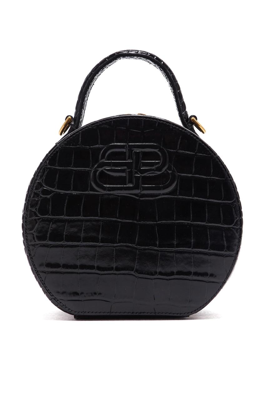 Круглая кожаная сумка Vanity XS от Balenciaga