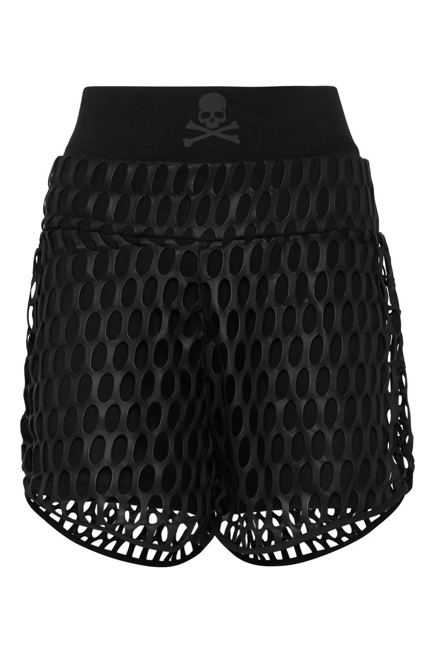 женские шорты philipp plein, черные