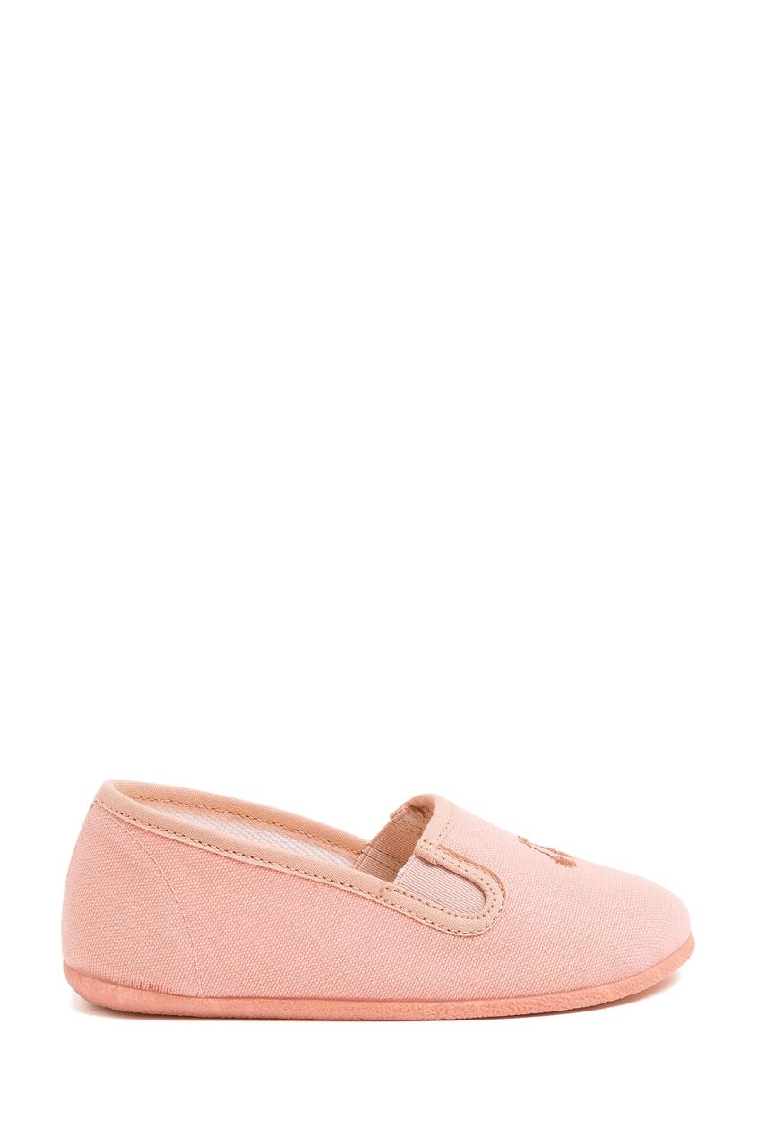 Розовые слипоны из текстиля от Bonpoint