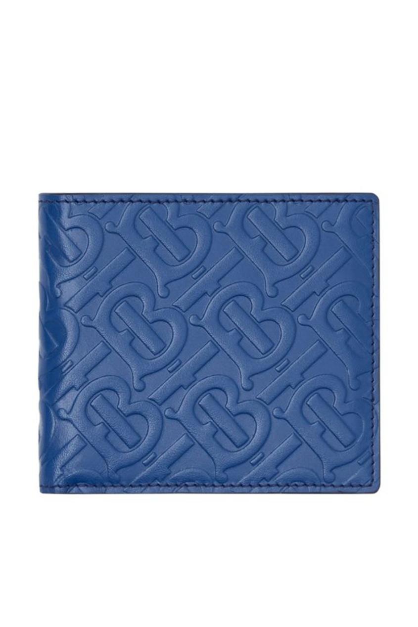 мужской кошелёк burberry, синий