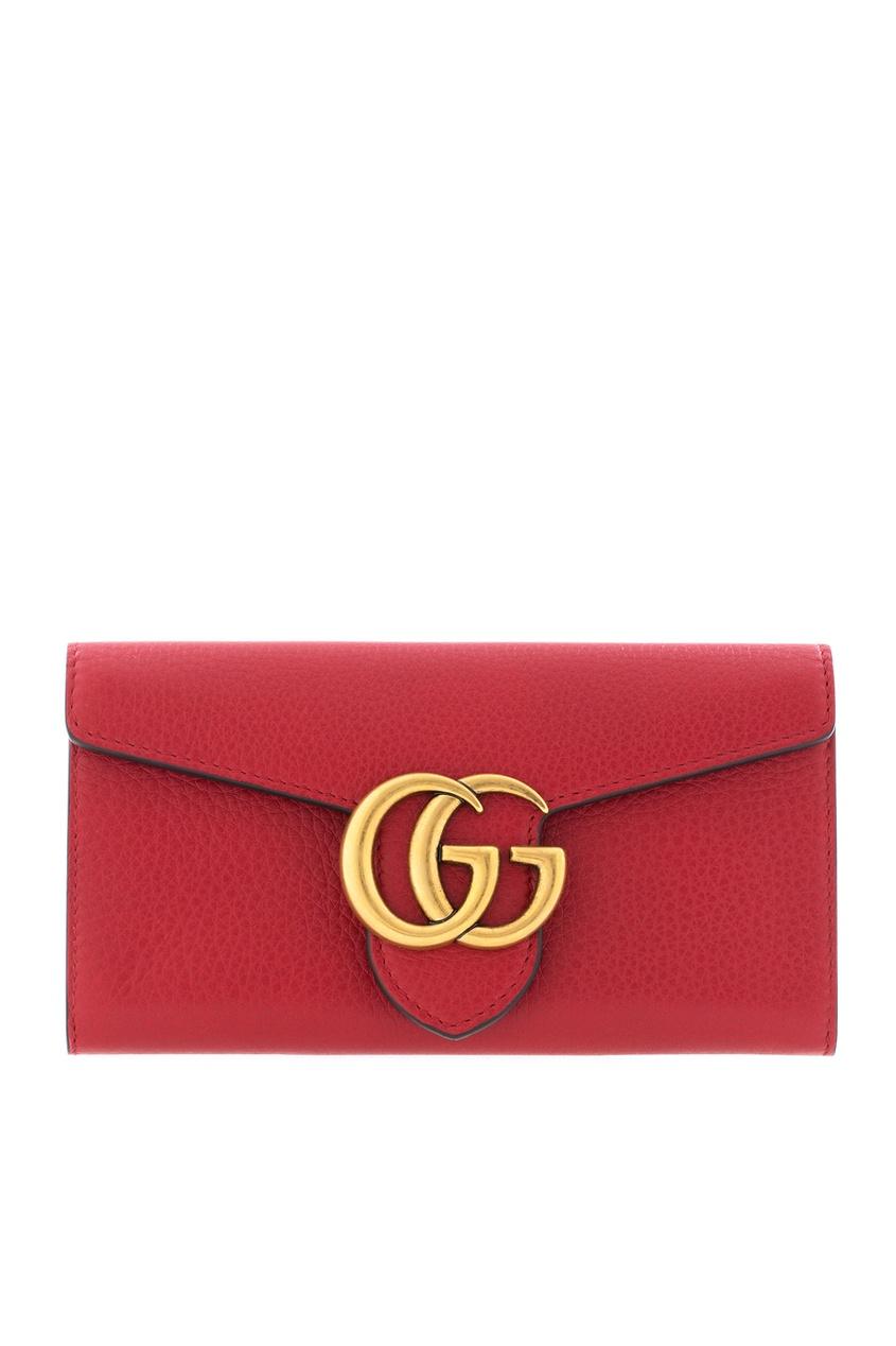 Gucci Кожаный кошелек GG Marmont Continental