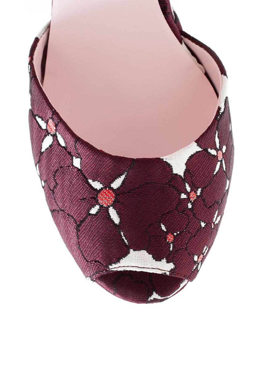 Giamba Кожаные босоножки с вышивкой