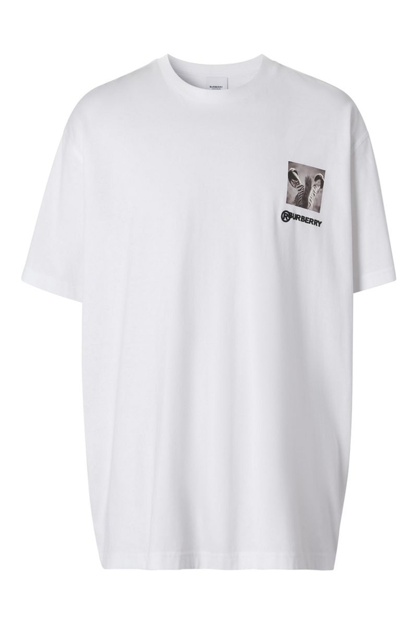 мужская футболка burberry, белая