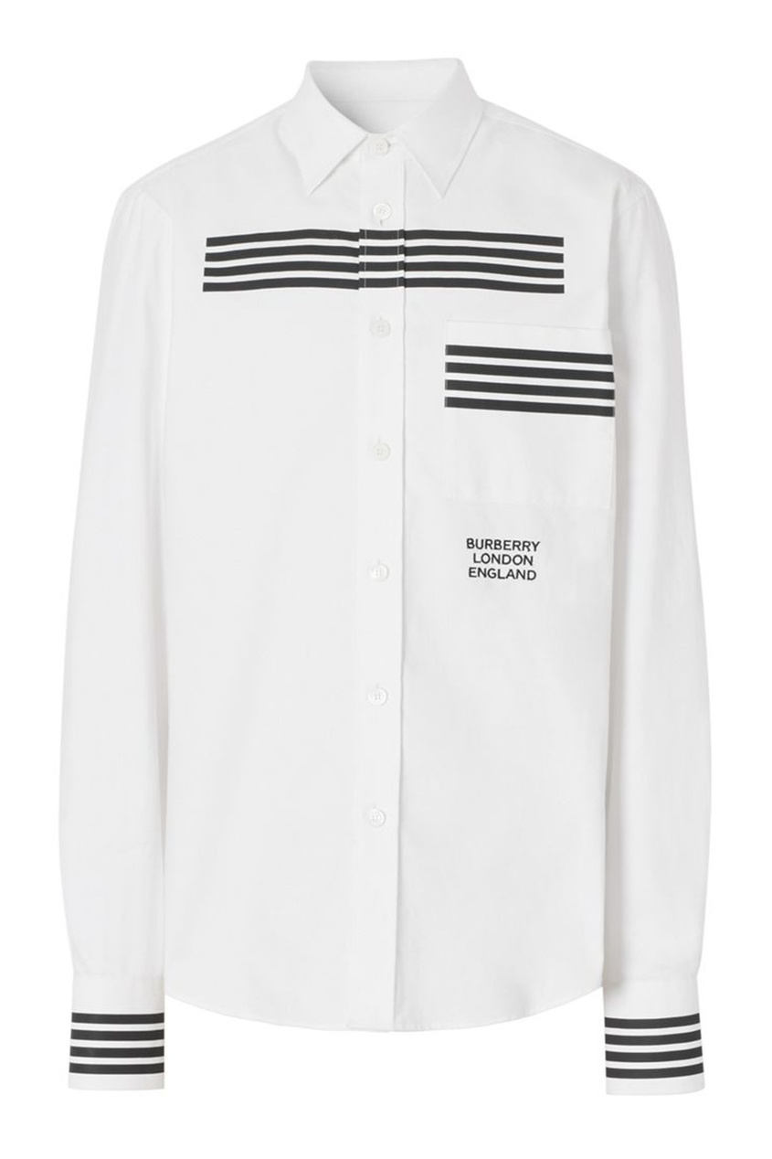 мужская рубашка burberry, белая