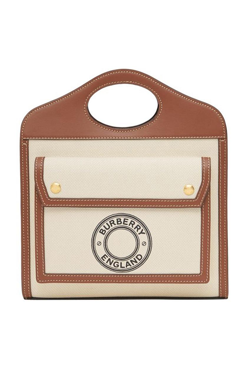 Сумка Pocket из кожи и парусины Burberry