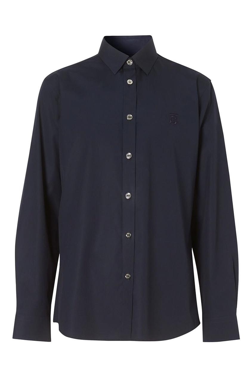 мужская рубашка burberry, синяя
