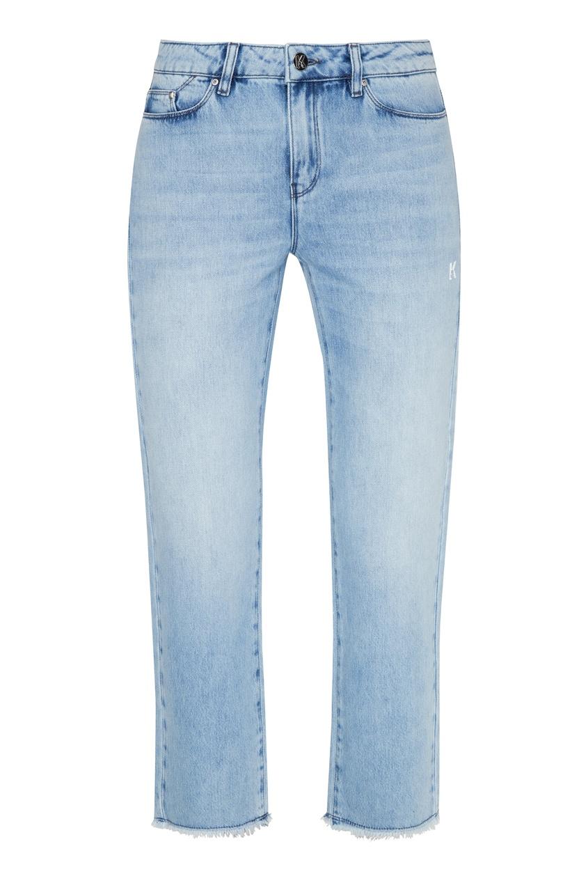 женские джинсы karl lagerfeld, голубые