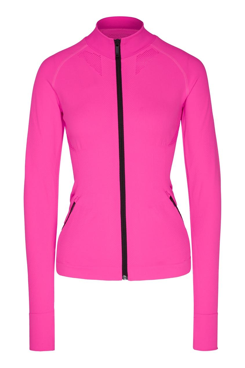 женская куртка karl lagerfeld, розовая