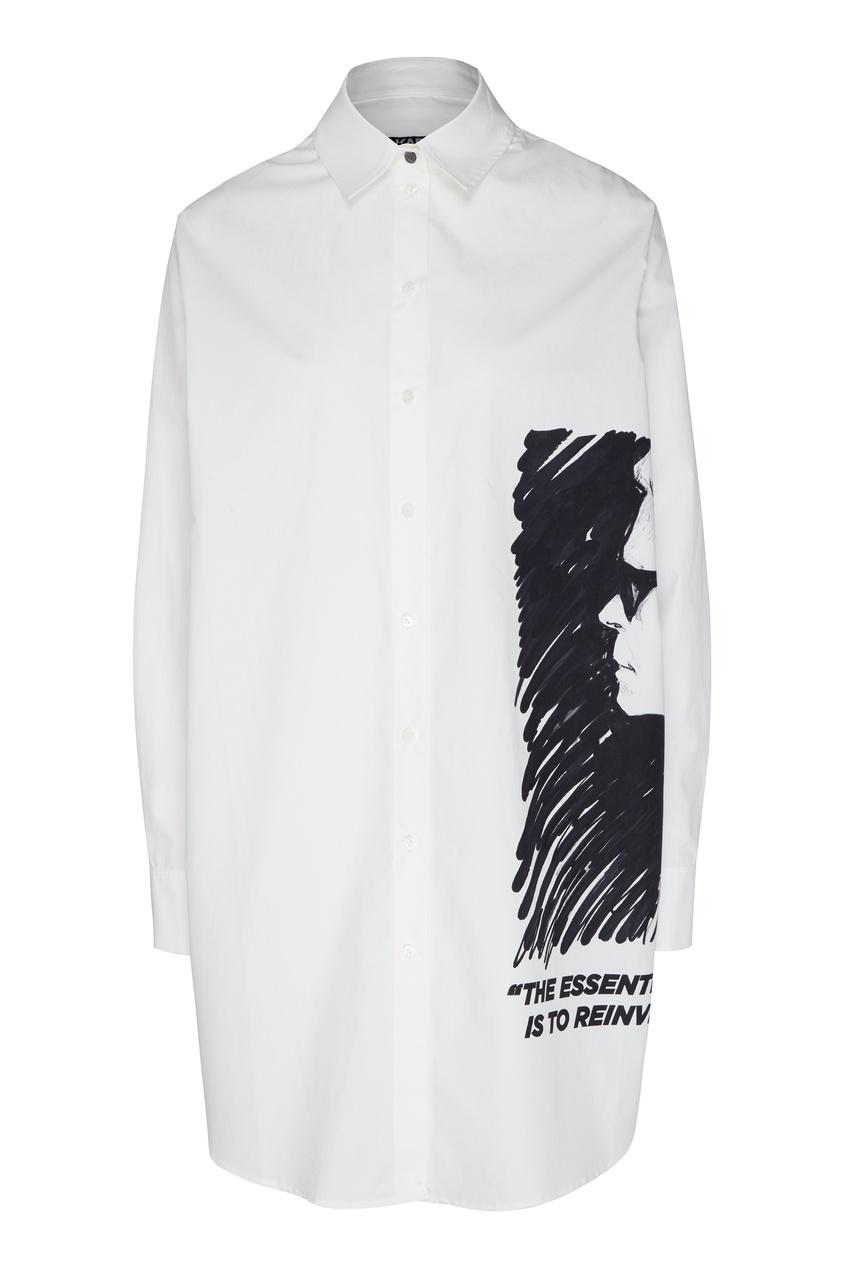 женская рубашка karl lagerfeld, белая