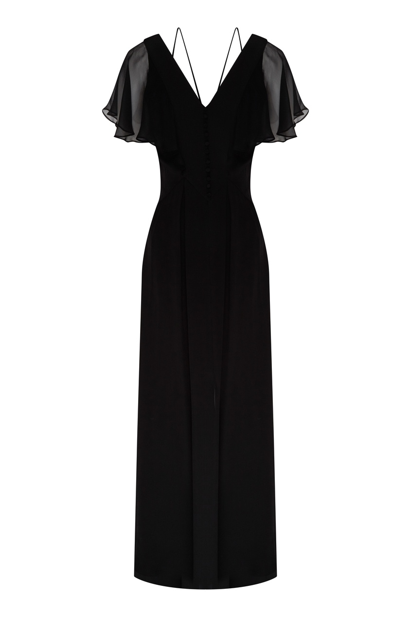 женское платье макси karl lagerfeld, черное