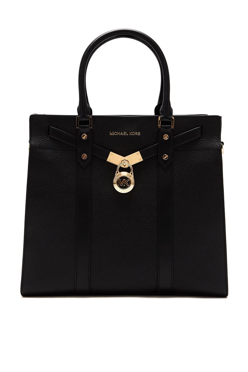 женская кожаные сумка michael kors, черная