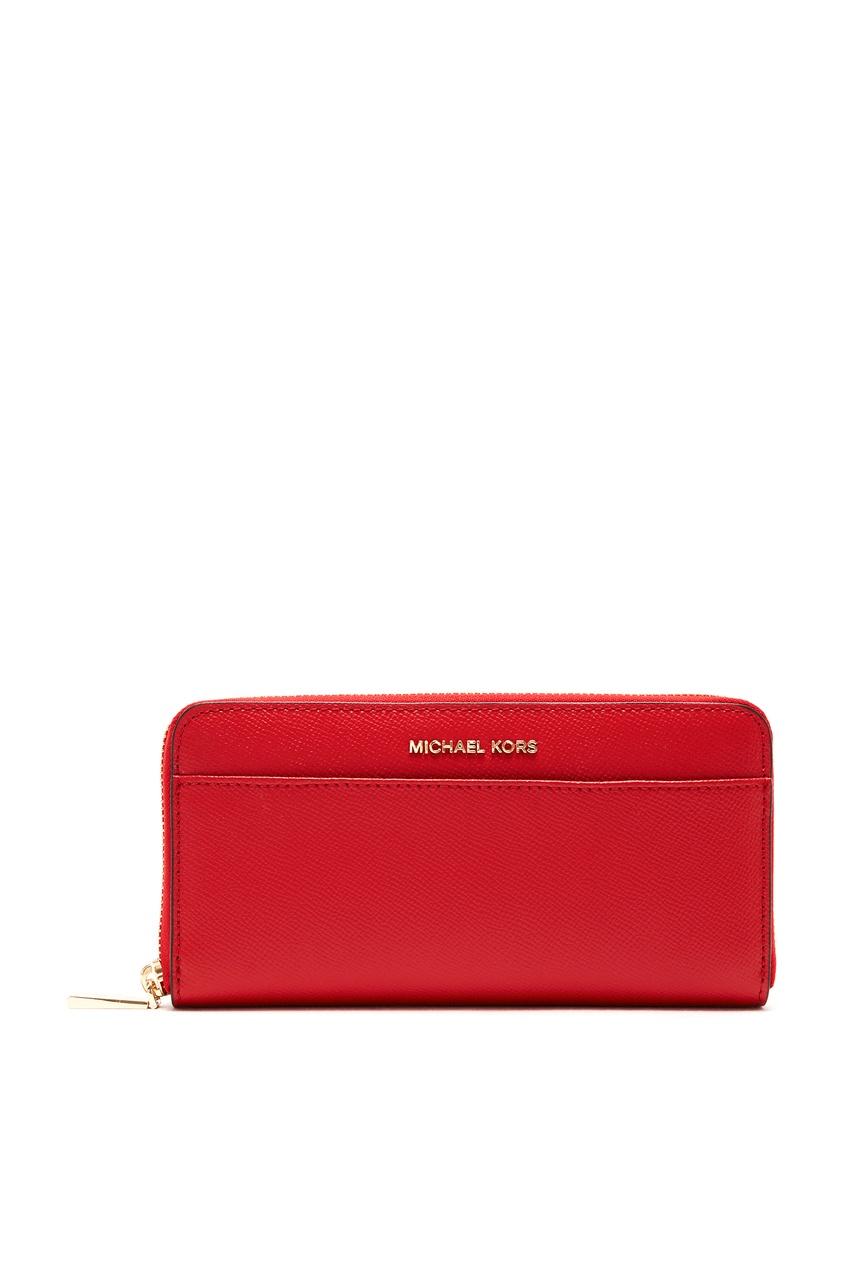 женский кошелёк michael kors, красный