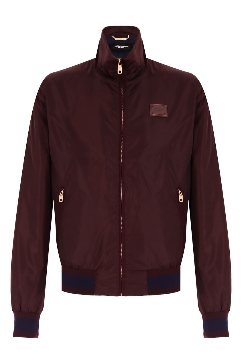 мужская куртка бомбер dolce & gabbana, коричневая