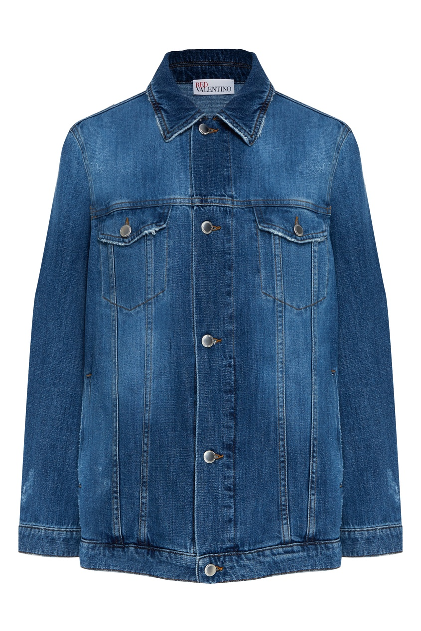 женская джинсовые куртка red valentino, синяя