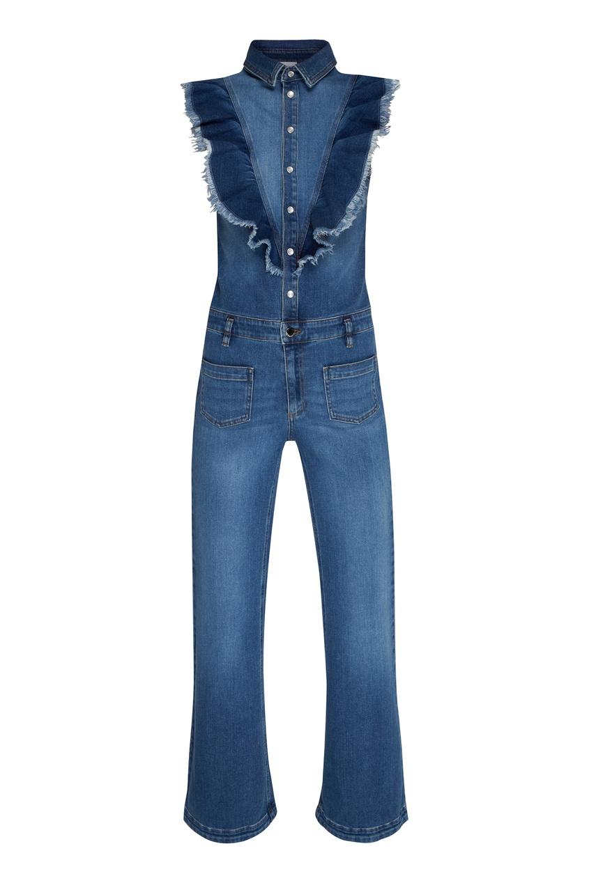 женский джинсовые комбинезон red valentino, синий