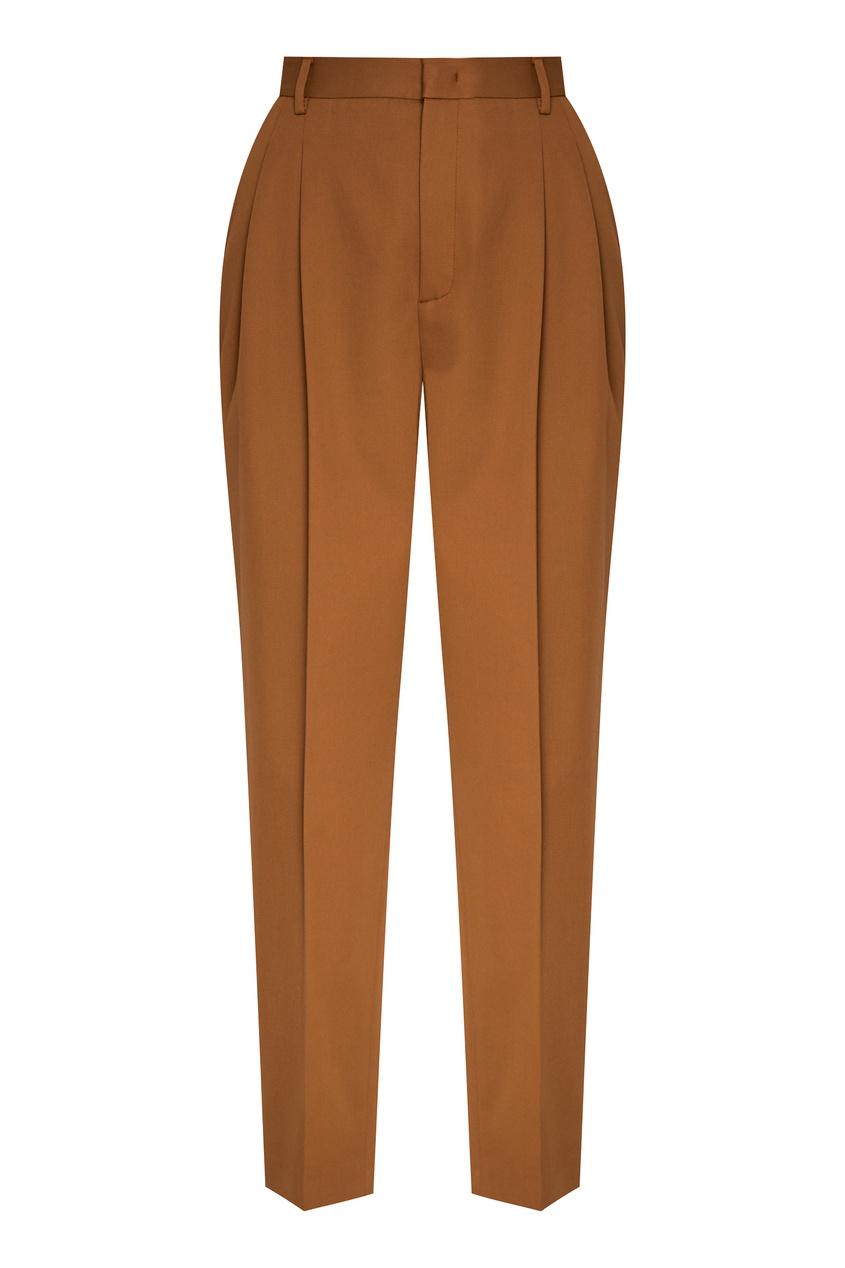 женские брюки red valentino, коричневые