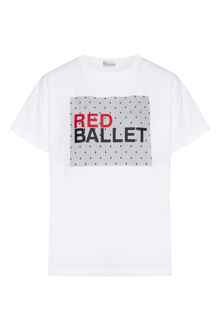 женская футболка red valentino, белая