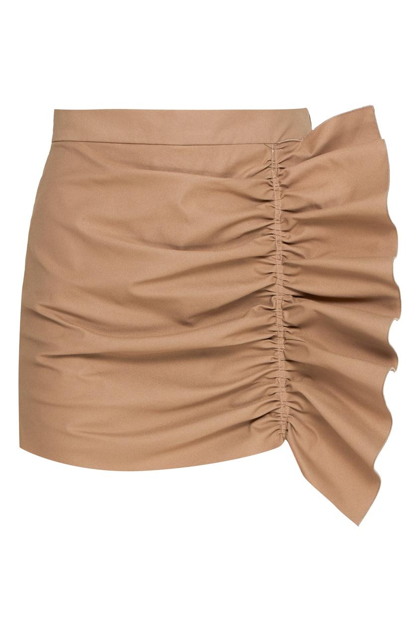 женская юбка red valentino, коричневая
