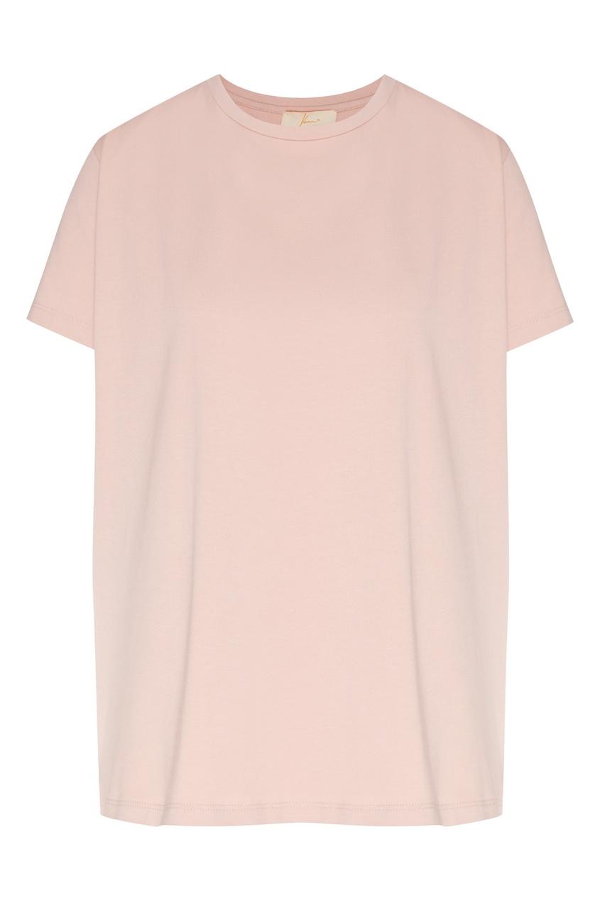 женская футболка yana dress, розовая