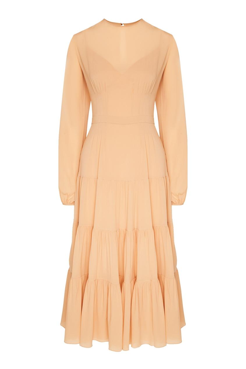 женское шелковые платье yana dress, бежевое