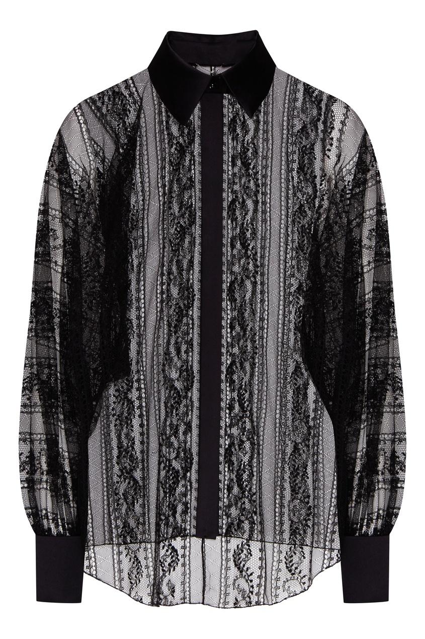 женская кружевные блузка yana dress, черная