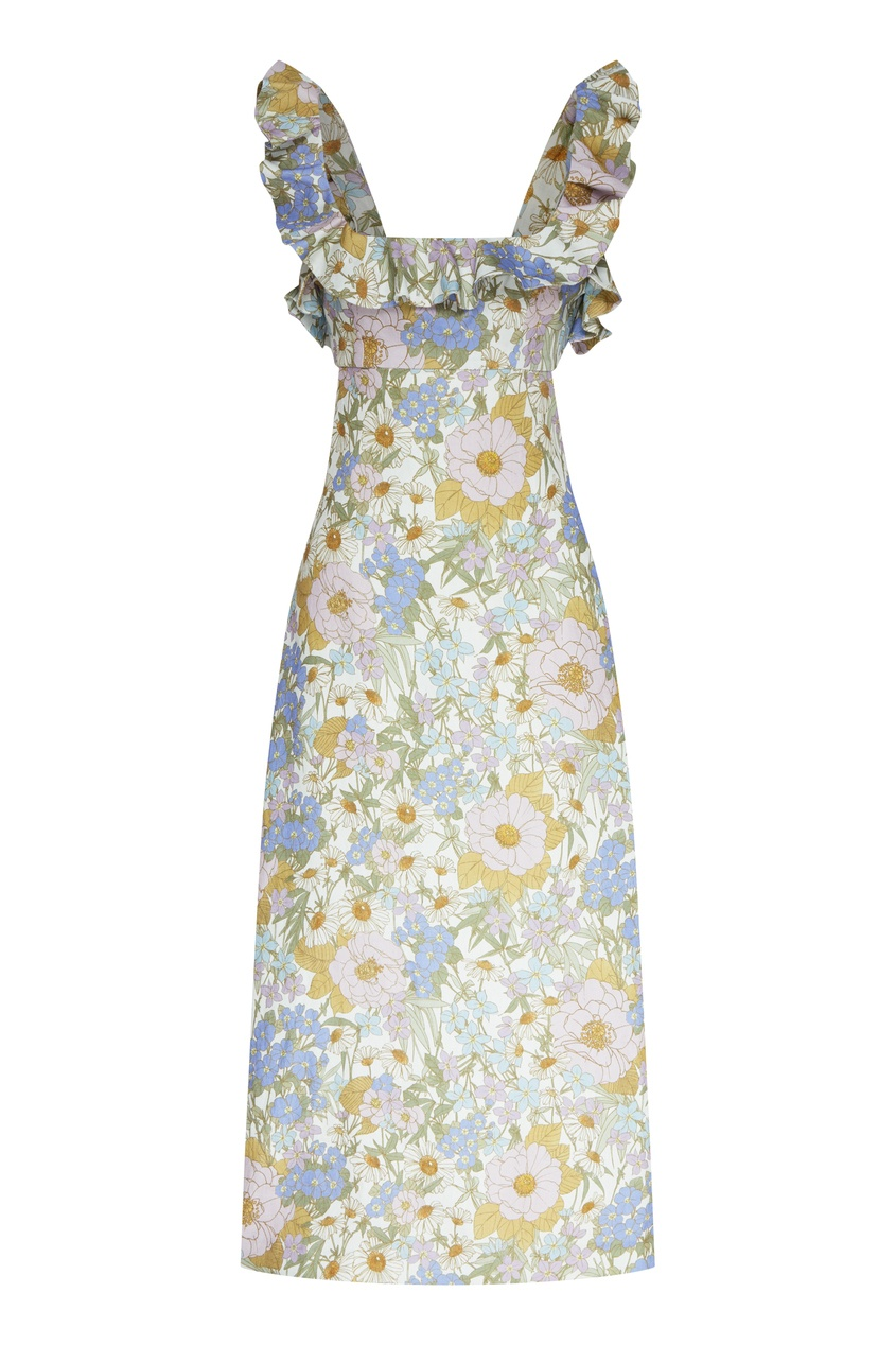 женское платье zimmermann, голубое