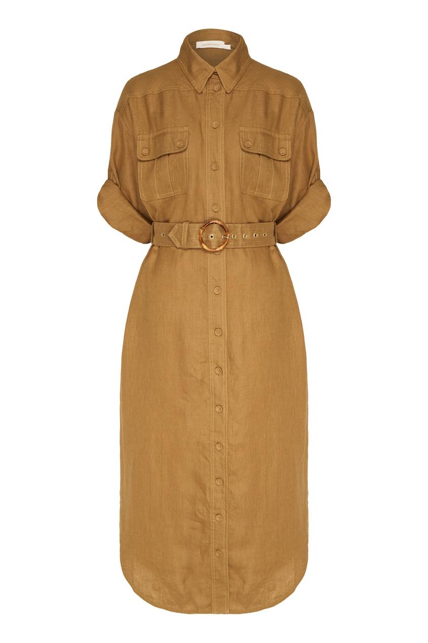 женское платье-рубашки zimmermann, серое