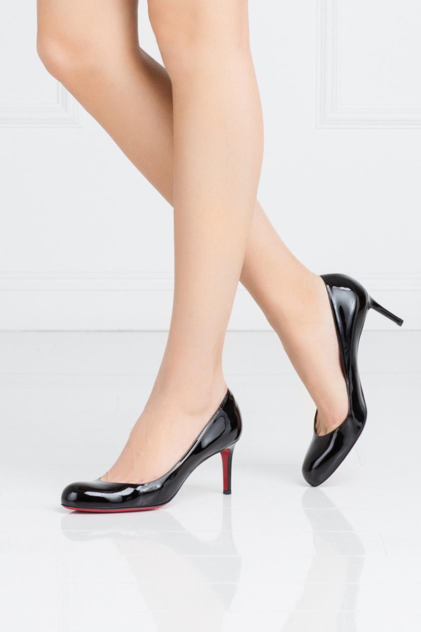 Туфли из лакированной кожи Simple Pump 70