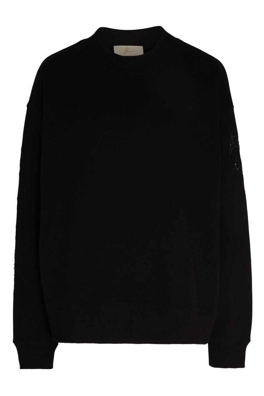 женский свитшот yana dress, черный
