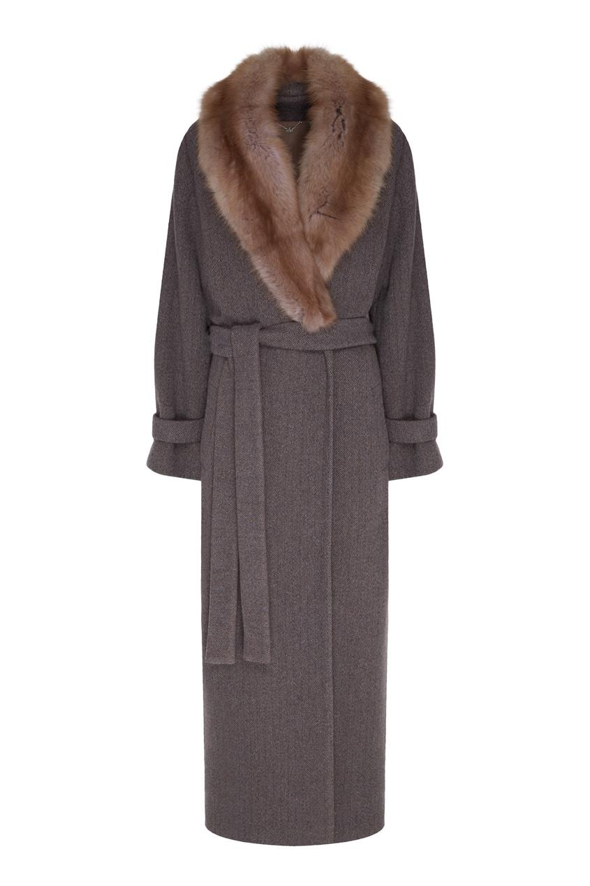 женское пальто yana dress, коричневое