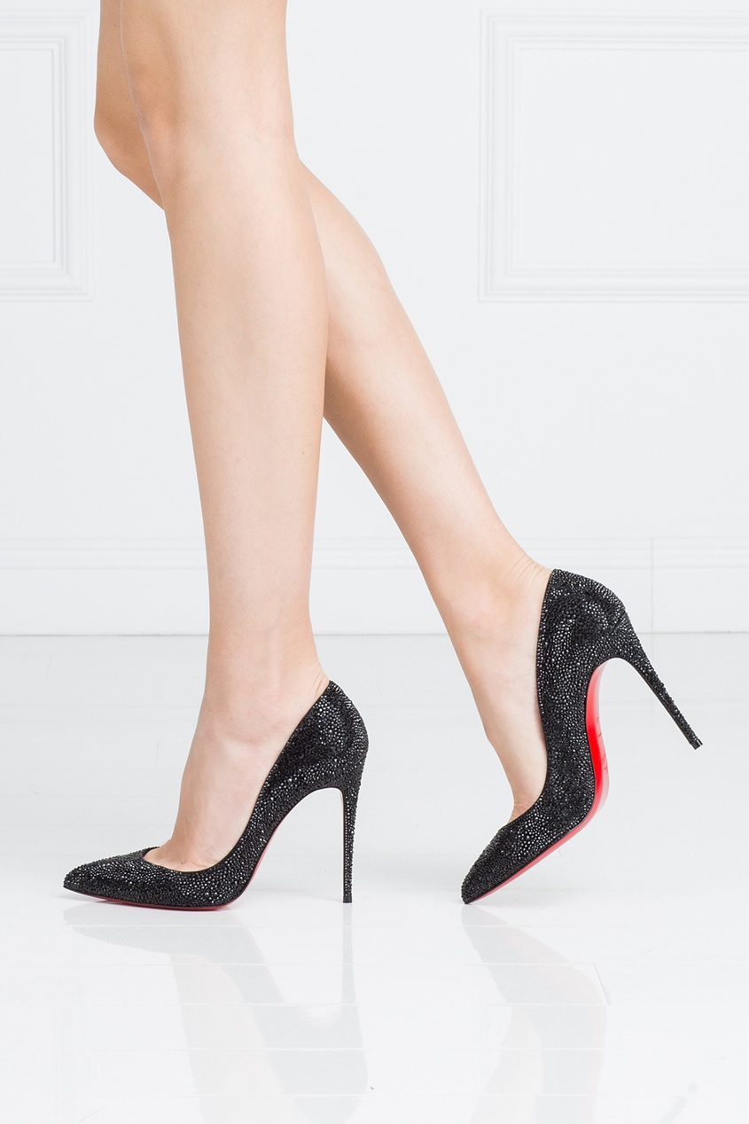 Кожаные туфли Pigalle Follies Strass 100