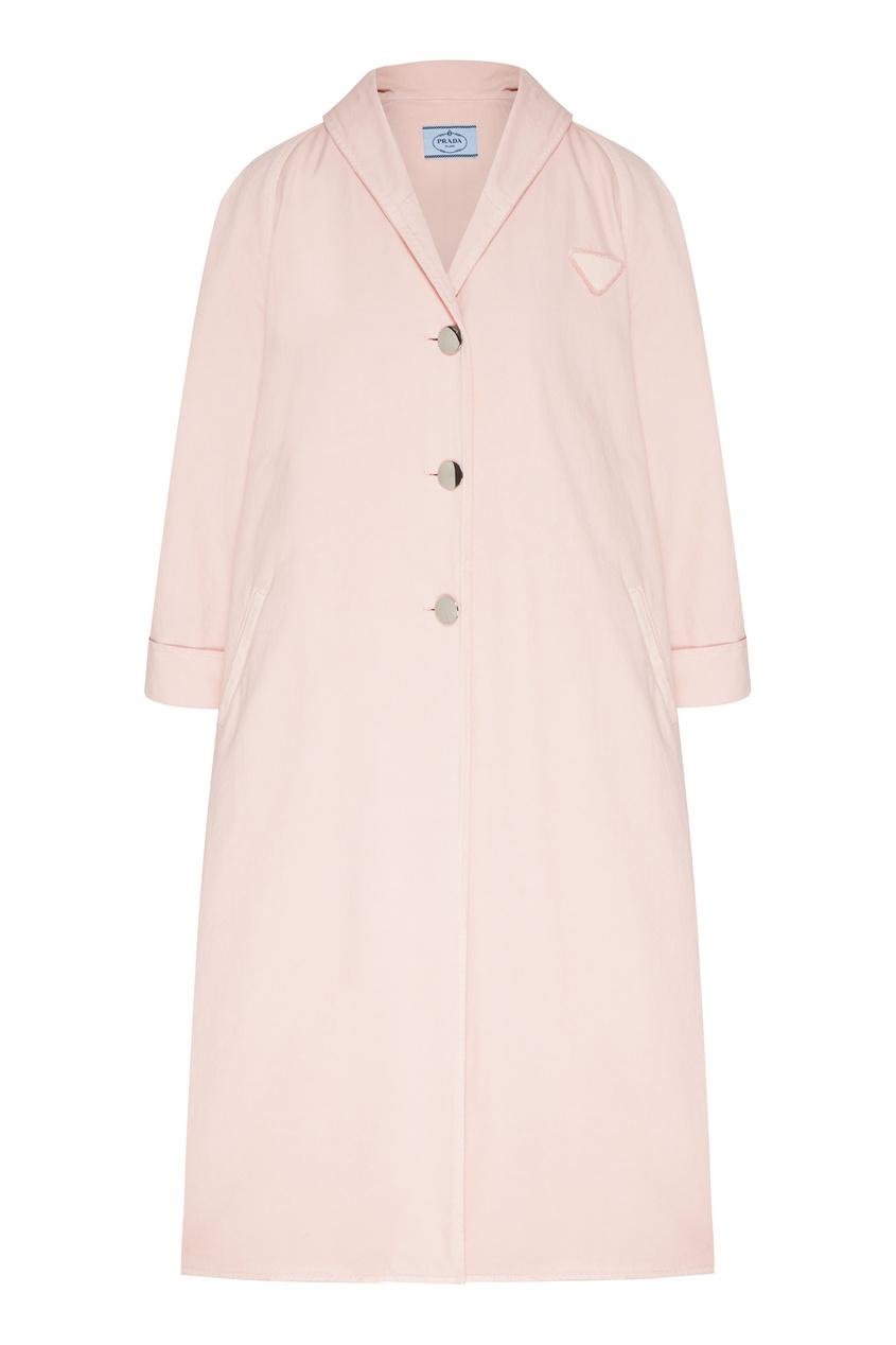 женское пальто prada, розовое