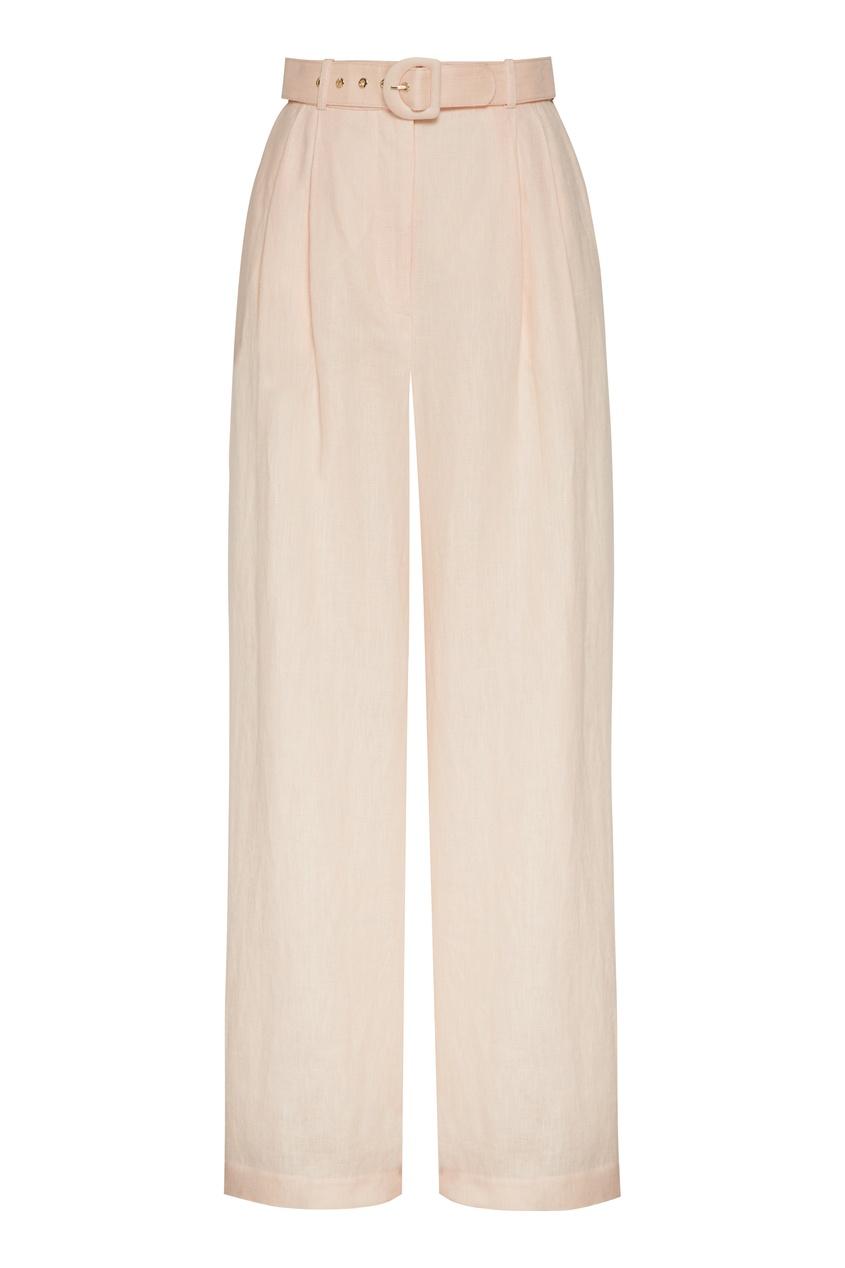 женские широкие брюки zimmermann, бежевые