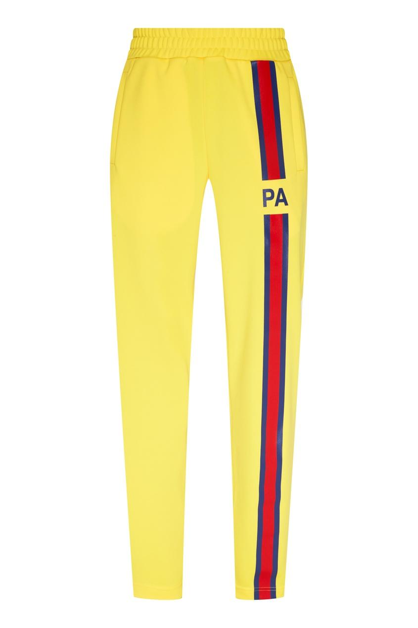 мужские брюки palm angels, желтые