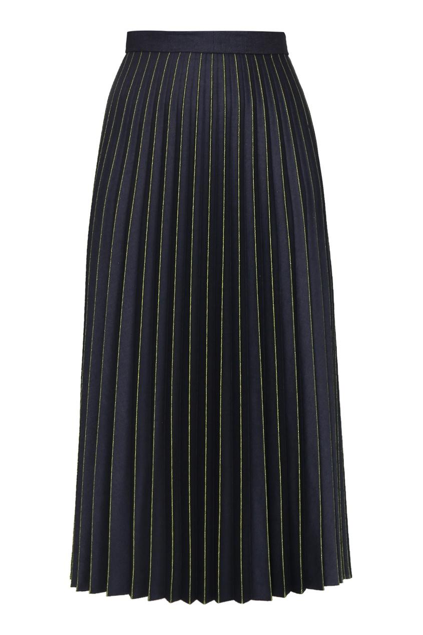 женская юбка миди marina rinaldi, синяя
