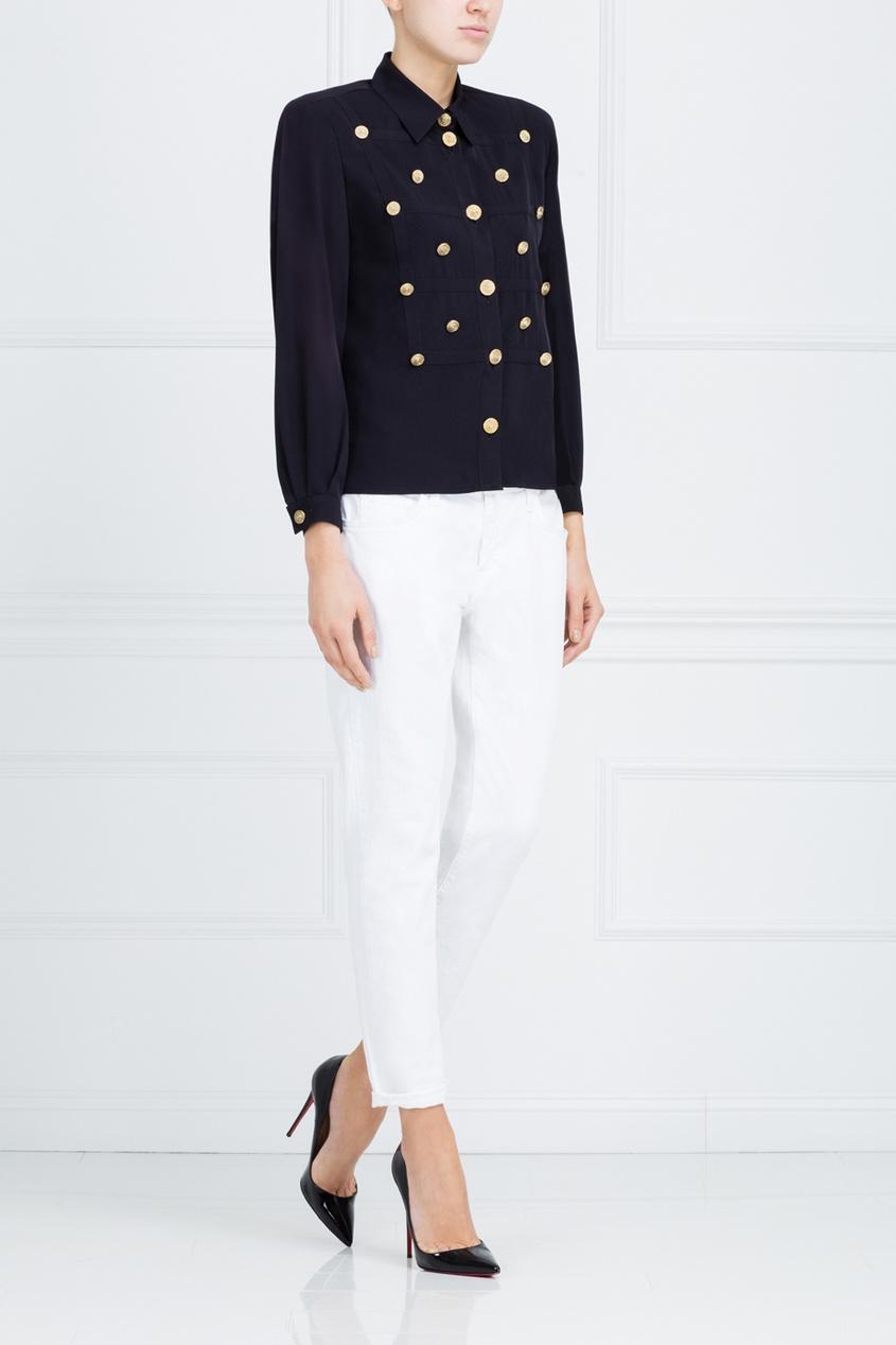 Фото 3 - Однотонная блузка от Louis Feraud Vintage черного цвета