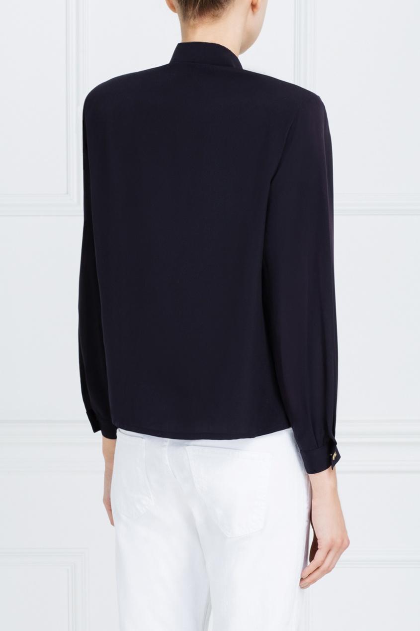 Фото 5 - Однотонная блузка от Louis Feraud Vintage черного цвета