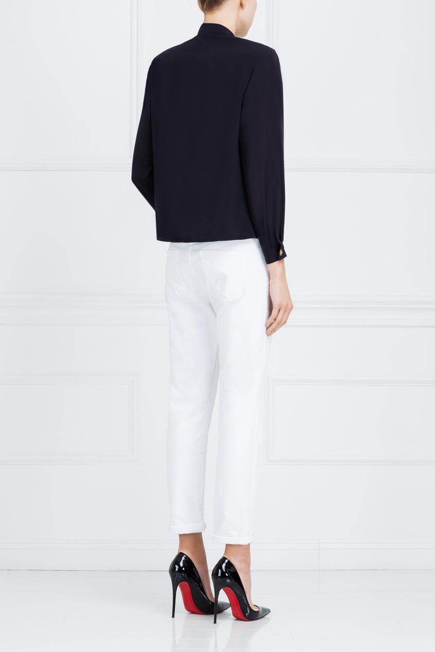 Фото 6 - Однотонная блузка от Louis Feraud Vintage черного цвета