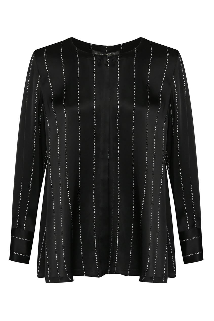 женская блузка marina rinaldi, черная
