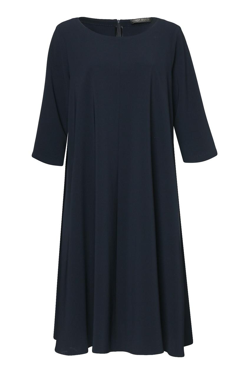 женское платье миди marina rinaldi, синее