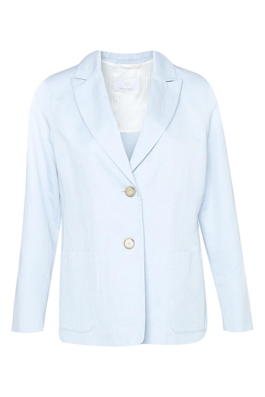 женский жакет marina rinaldi, синий