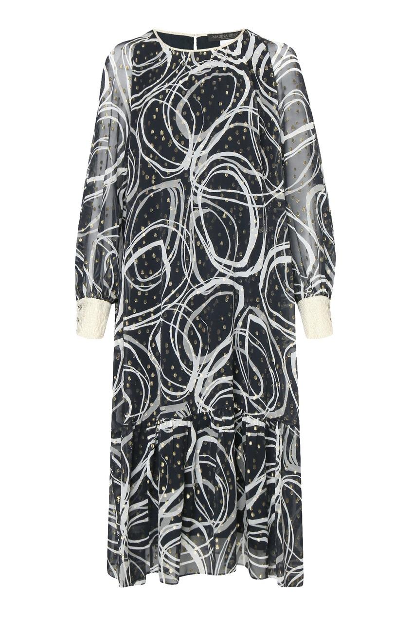 женское шелковые платье marina rinaldi