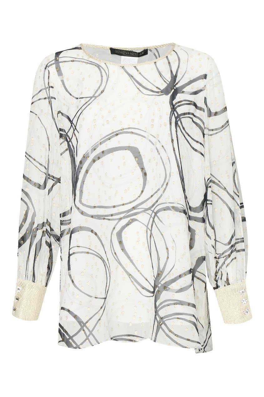женская шелковые блузка marina rinaldi