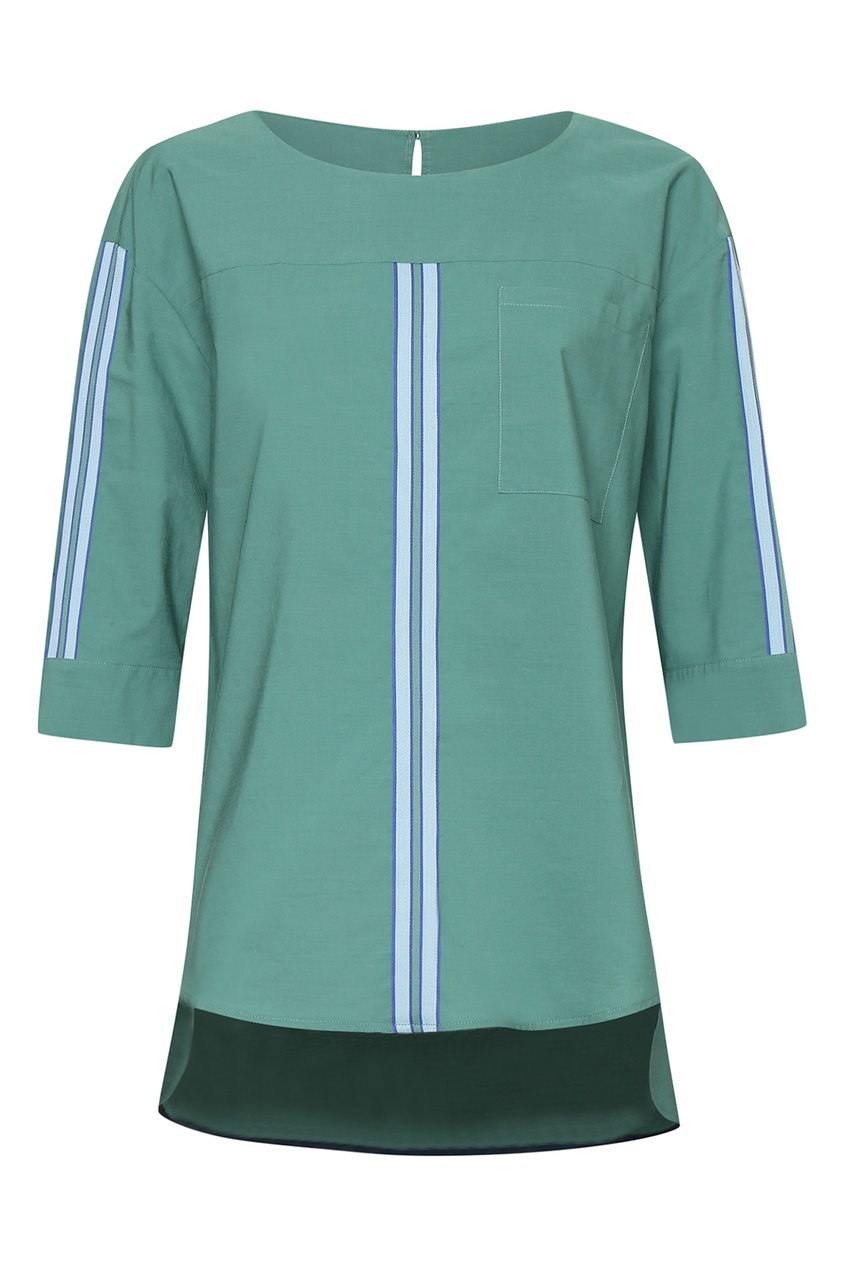 женская блузка marina rinaldi, зеленая