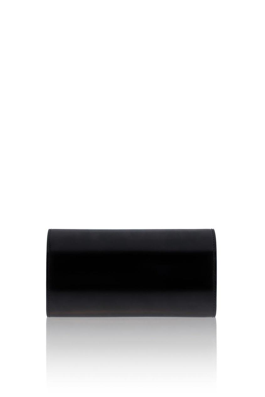Фото 5 - Кошелек из глянцевой кожи от Gucci черного цвета