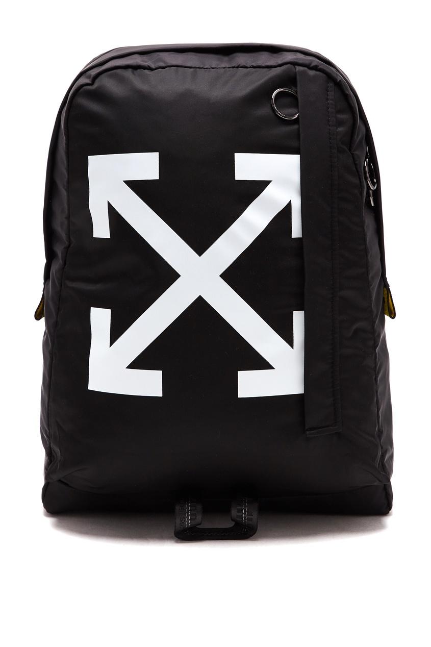 Черный текстильный рюкзак