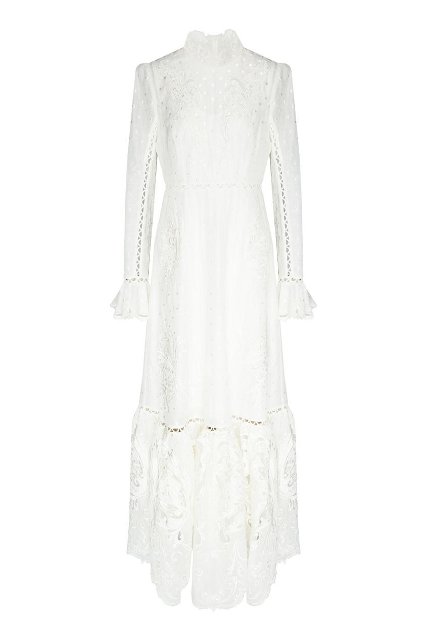 женское платье zimmermann, бежевое