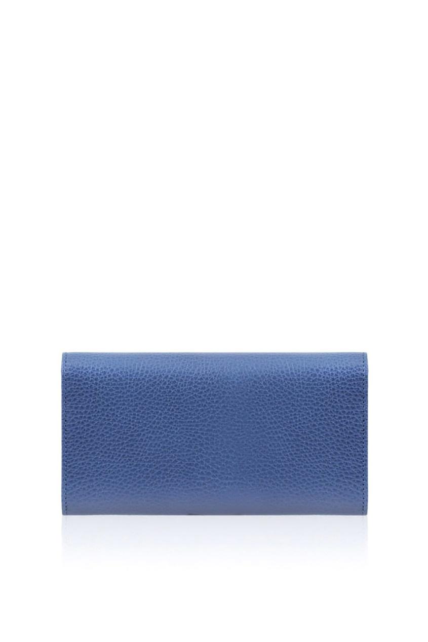 Фото 5 - Кожаный кошелек от Gucci синего цвета