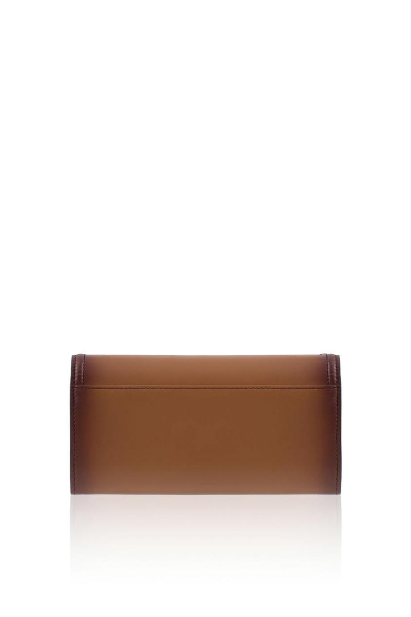 Фото 5 - Кожаный кошелек Lady Web от Gucci коричневого цвета