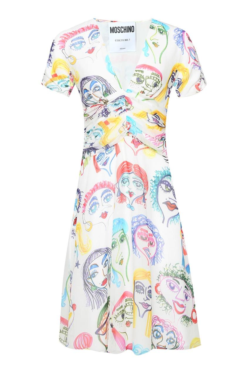 женское шелковые платье moschino
